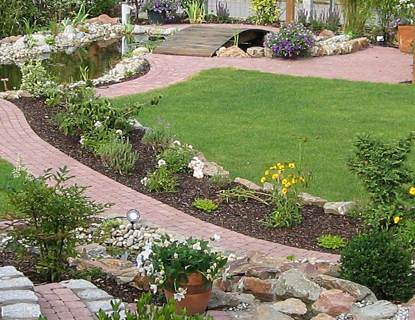 Garten gepflegt