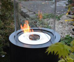 Feuerstelle im Glas