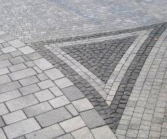 Geometrische Pflastereinlagen