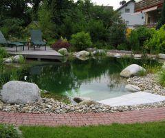 Bepflanzter Schwimmteich