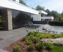 Moderne, stylische, exklusive Terrasse