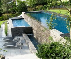 Extravagantes Schwimmbecken